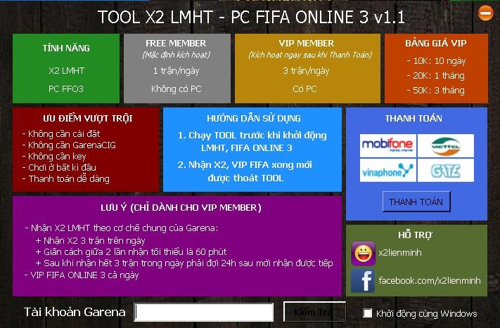 Share lại phần mềm tool x2 ip LMHT cực nhẹ  Không cần gcafe, nhanh